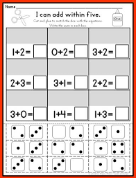 addition and subtraction kindergarten math ten frames and