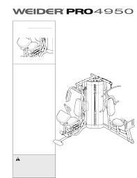 weider home gyms pro 4950 831 14623 0 pdf user u0027s manual free