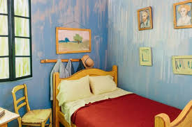 van gogh bedroom painting it looks like an ordinary van gogh painting but when the camera