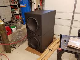flat subwoofer home theater 4x ds4 18 in a pair of diysoundgroup 8 cuft enclosures timelapse