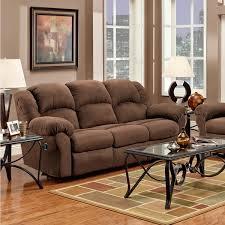 aruba microfiber dual reclining sofa chocolate free shipping