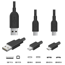 usb types various types of usb cables a b and c and their