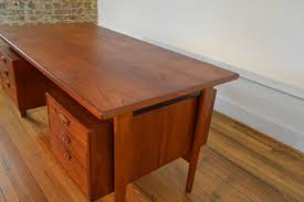 Danish Modern Teak Desk by Desks Galaxiemodern