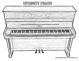 piano coloring pages eson me