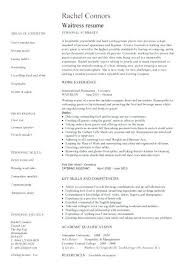 waiter resume examples resume examples for waitress lukex had