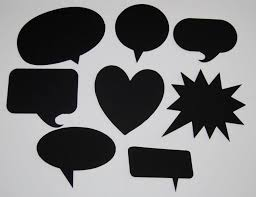 photo booth signs 8 blank chalkboard speech bubbles customizable party decorations