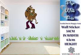 scooby doo wall stickers ebay scooby doo shaggy wall stickers children s bedroom kids large sticker