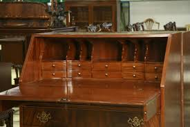 Chippendale Secretary Desk by Slant Lid Secretary Desk