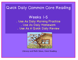literacy u0026 math ideas five weeks of daily common core practice