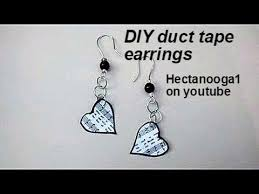 duct earrings duct crafts jewelry duct heart earrings