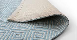 blue rug large flatweave geometric 160 x 230cm rhea made com
