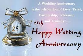 wishes 25 year with wishes 25th wedding anniversary wishes and messages wishesmsg