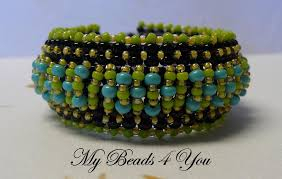 beaded cuff bracelet pattern images How to make beaded cuffs 9 tutorials to try jpg
