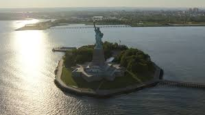 New Jersey travel videos images Aerial new york statue of liberty brooklyn governors island ferry jpg