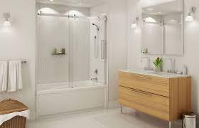Shower Doors On Tub Inspiring Tub Shower Sliding Doors With Bathtub With Shower Doors