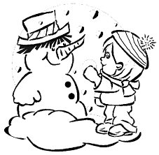kid snowman coloring pages winter winter coloring pages