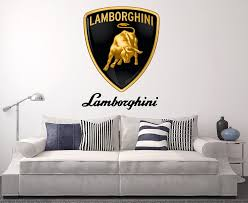 lamborghini wall decal sport car home decor art sticker vinyl lamborghini wall decal sport car home decor art sticker vinyl amazon com