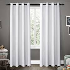 63 White Curtains Ati Home Sateen Blackout Grommet Top Window Curtain Panel