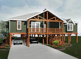coastal house plans on pilings elevated beach home designs
