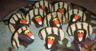 thanksgiving no bake turkey cookies at home at home