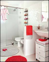 bathroom kids bathroom with red and white accentuate and spiral