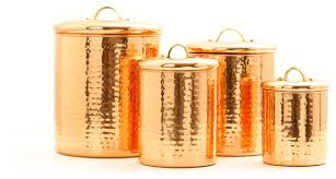 copper canisters kitchen 4 pc d copper hammered canister set 4qt 2qt 1 1qt