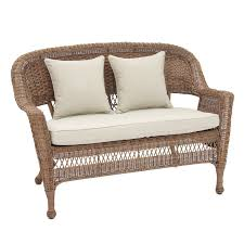 wicker outdoor sofa jeco wicker patio loveseat hayneedle