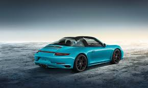 miami blue porsche gt3 rs porsche 911 targa 4 gts sportdesign looks every bit the money it u0027d