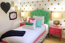 Teenage Bedroom Makeover Ideas - amazing tween bedroom design pink navy gold and green
