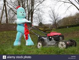 editorial television character iggle piggle mowing