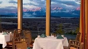 mural dining room at jackson lake lodge moran travel wyoming