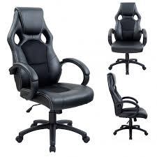 fauteuil de bureau sport fauteuil de bureau chaise siège sport ergonomique noir helloshop26