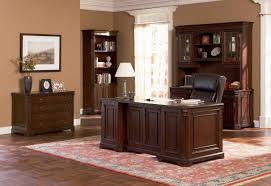 office desk with credenza brown home office furniture wood with cabinet hutch and bookcase