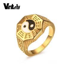 aliexpress yang vinterly chinese retro style men s yin yang signet ring stainless