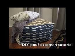 chevron diy pouf ottoman youtube