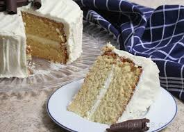 white chocolate layer cake recipe image