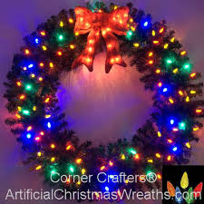 4 foot multi color l e d wreath