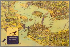San Francisco Bay Map by Birdseye View Map Of San Francisco Bay Area Menu Cover For The