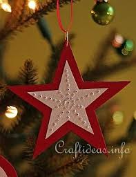 paper craft and white needle pricked paper ornaments