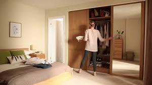 Installing Sliding Mirror Closet Doors by Wardrobe Wood Glass Wardrobe With Mirror Sliding Doors Bedroom