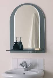 flat bathroom mirror large square mirror with white woden frame