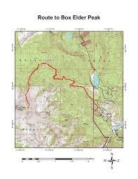 Utah County Map Mark U0027s Hikes And Treks Box Elder Peak Utah County