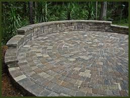 Circular Paver Patio Jacksonville Backyard Hardscapes Landscapes Ecoscapes