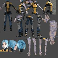 borderlands halloween costume super duper bl2 maya reference great unfold of the the tattoos