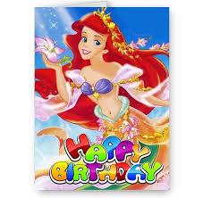 disney princess ariel mermaid a5 birthday card