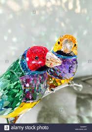 swarovski store crystal bird figurines stock photo royalty free