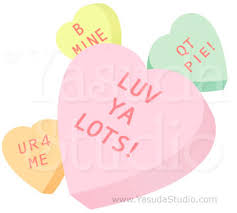 valentines hearts candy heart candy downloadable vector stock yasuda studio