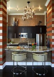 hot trend 20 tasteful ways to add stripes to your kitchen chic contemporary kitchen flanked by horizontal stripes design kamarron design