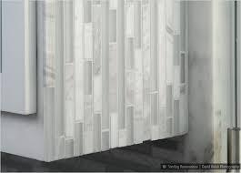 white backsplash tile for kitchen glass marble white backsplash tile installed vertically in shower