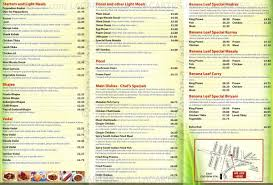 restaurants with light menus 1 of 2 price lists menus the banana leaf south indian restaurant